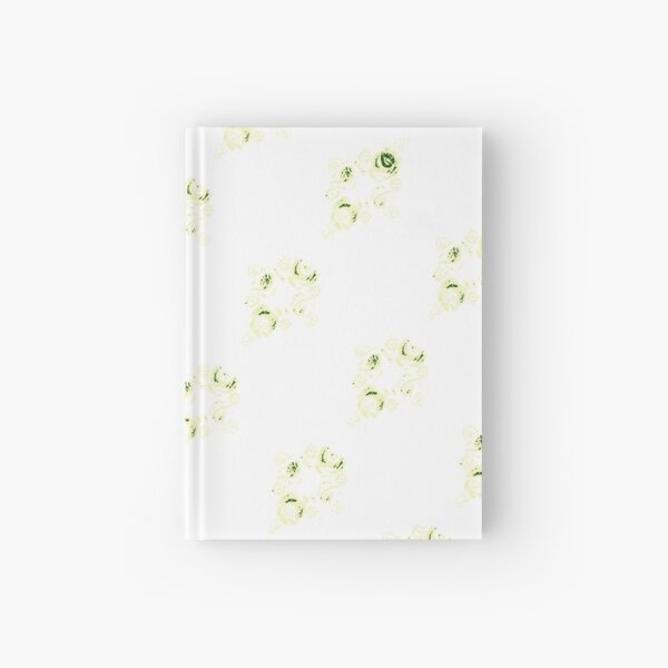 Cream canal flowers  Hardcover Journal