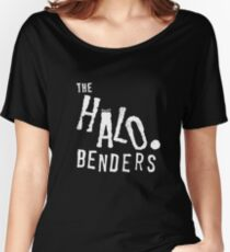 HALO BENDERS Logo White Women's Relaxed Fit T-Shirt