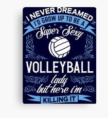 Super Sexy Volleyball Lady Canvas Print
