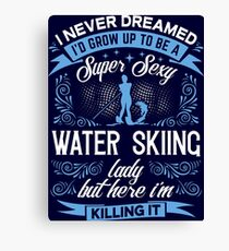 Super Sexy Water Skiing Lady Canvas Print