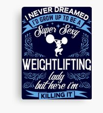 Super Sexy Weightlifting Lady Canvas Print