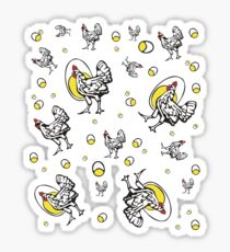 Funny Retro Roseanne Chicken Sticker