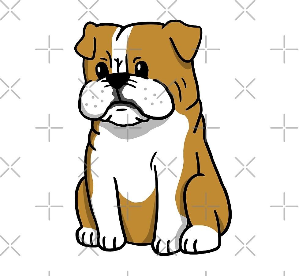quotenglish bulldog cute cartoonquot by ilovepaws redbubble