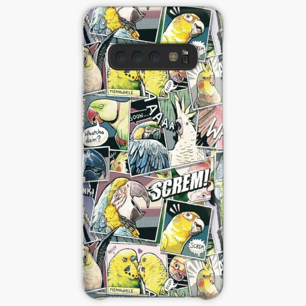 Parrots Comic Style Samsung Galaxy Snap Case