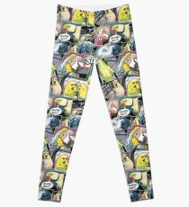 Parrots Comic Style Leggings