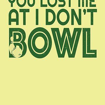 Funny Bowler Shirt for Men Bowler Apparel I Love To Bowl by rainydaysstudio