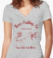 Max's Crabbing Co. Women's Fitted V-Neck T-Shirt