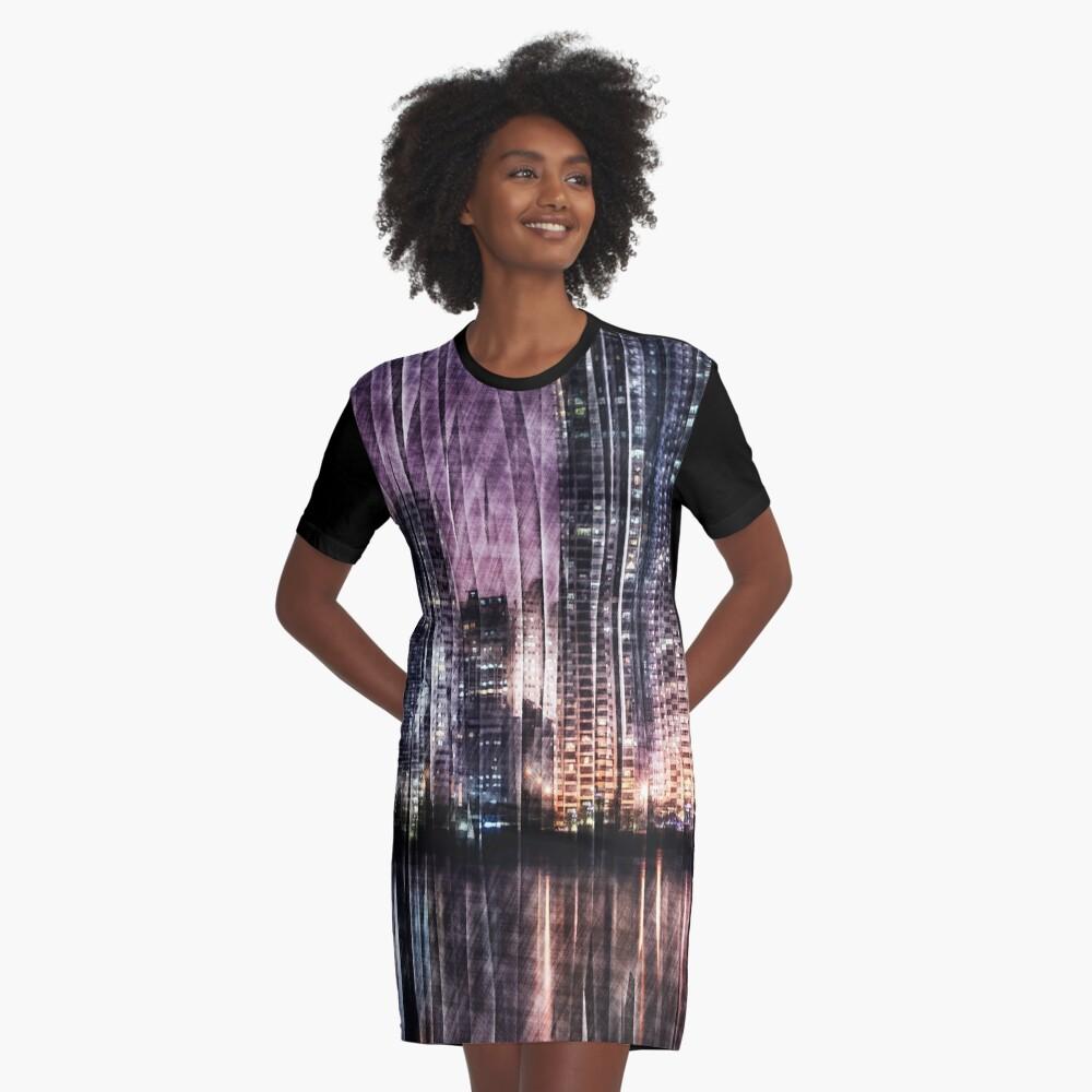 Night Reflections Graphic T-Shirt Dress