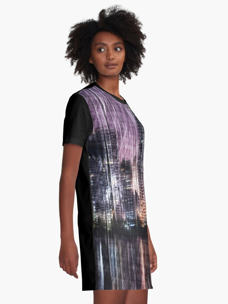 Alternate view of Night Reflections Graphic T-Shirt Dress