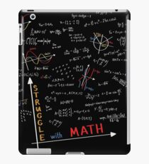 Creative Funny School - Struggle with Math iPad Case/Skin