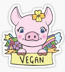 Vegan Piggy Sticker