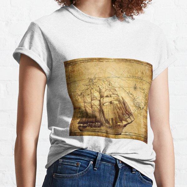 Vintage Schiffskarte Classic T-Shirt