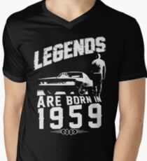 Legends Are Born In 1959 Men's V-Neck T-Shirt
