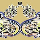wa iza mariztu fahuwa yashfin Calligraphy Painting by HAMID IQBAL KHAN