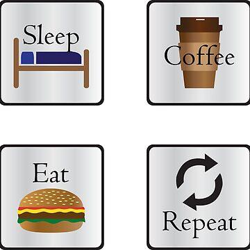 Sleep Coffee Eat Repeat by Eliza434