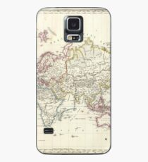 Vintage Map of The World (1816) Case/Skin for Samsung Galaxy