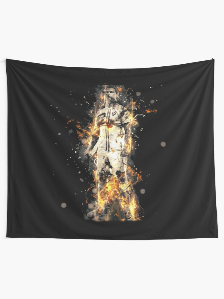 sale retailer 77deb a014e Ronaldo On Fire T Shirt Cristiano Cr7 Soccer S Jersey Men Madrid 7 Portugal  Football Real White Kids Tee Mens Black | Wall Tapestry