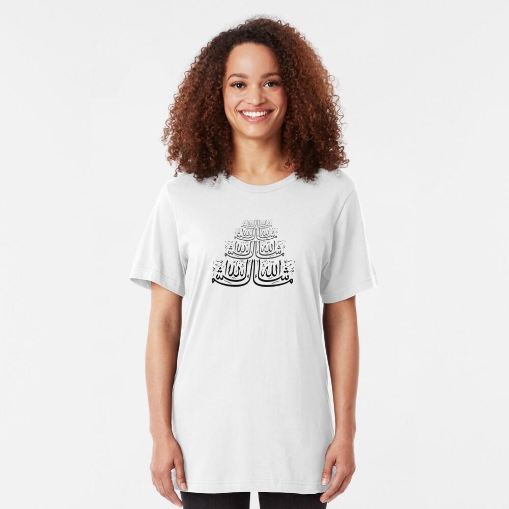 Ma Sha Allah Calligraphy Design Slim Fit T-Shirt