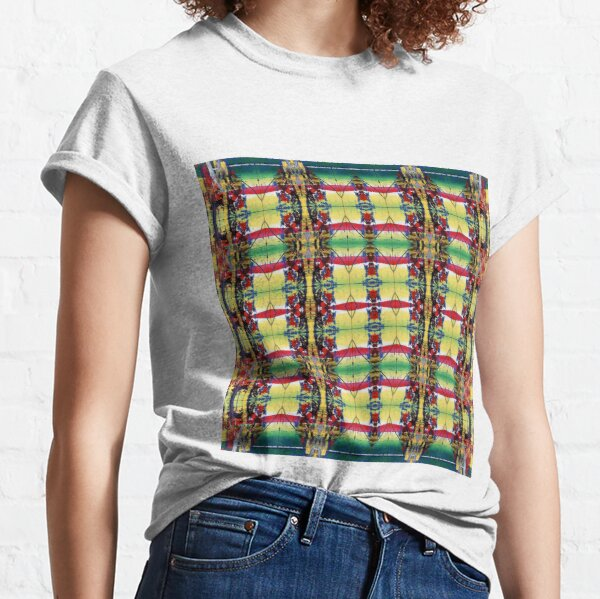 Pattern, design, tracery, weave, drawing, figure, picture, hallucination Classic T-Shirt