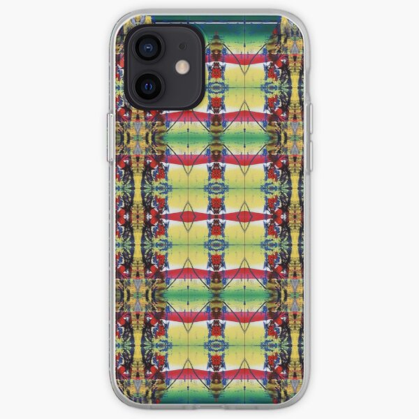 Pattern, design, tracery, weave, drawing, figure, picture, hallucination iPhone Soft Case