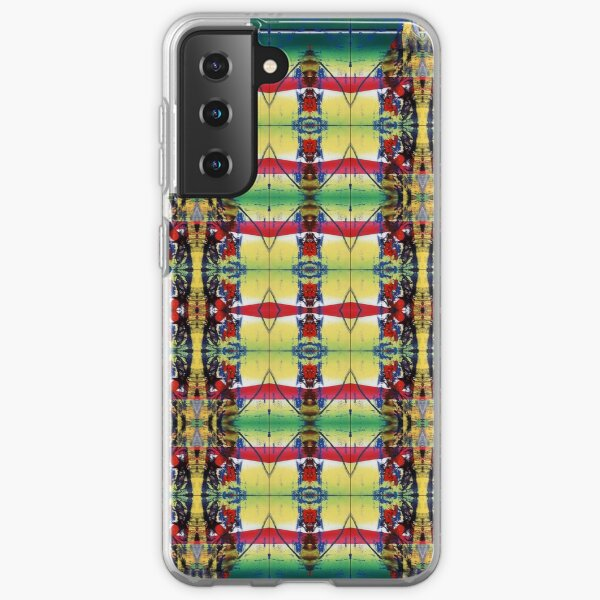 Pattern, design, tracery, weave, drawing, figure, picture, hallucination Samsung Galaxy Soft Case