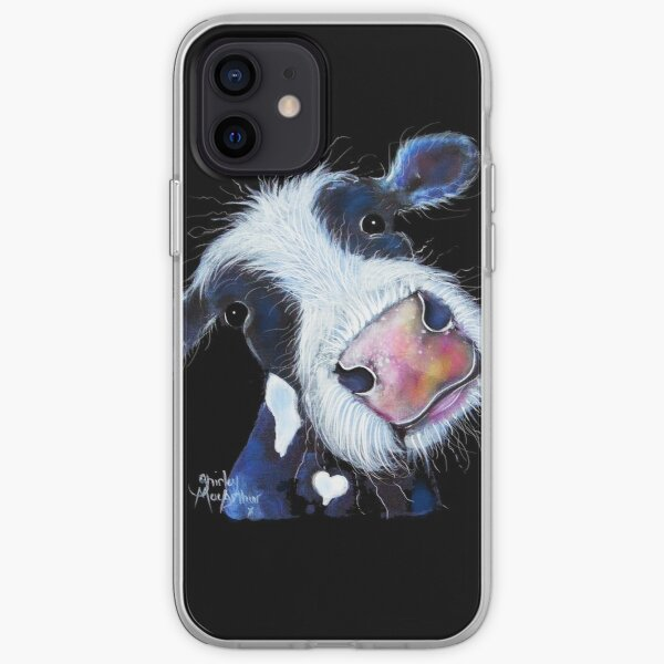 COW PRiNT  ' NoSeY BERTHA BEETROOT ' BY SHiRLeY MacARTHuR iPhone Soft Case