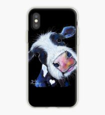 COW PRiNT  ' NoSeY BERTHA BEETROOT ' BY SHiRLeY MacARTHuR iPhone Case