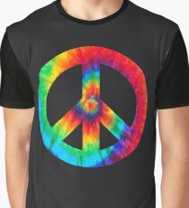 Tie Dye Peace Sign Graphic T-Shirt