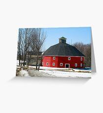 Welch Round Barn Greeting Card