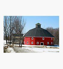 Welch Round Barn Photographic Print