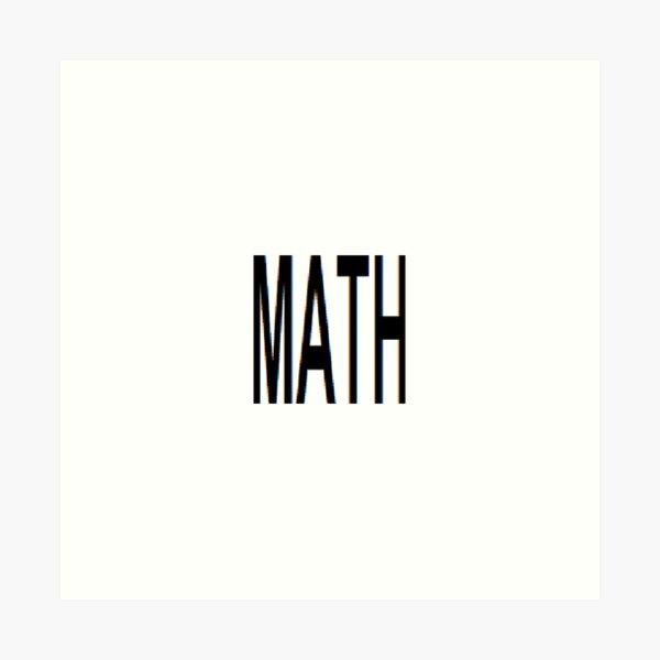 Math, Mathematics, education, science, pattern, design, tracery, weave Art Print