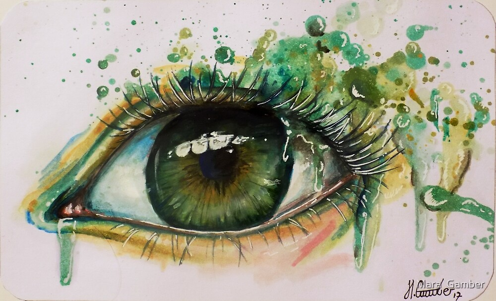 Abstract Eye Painting By Mustangart Redbubble
