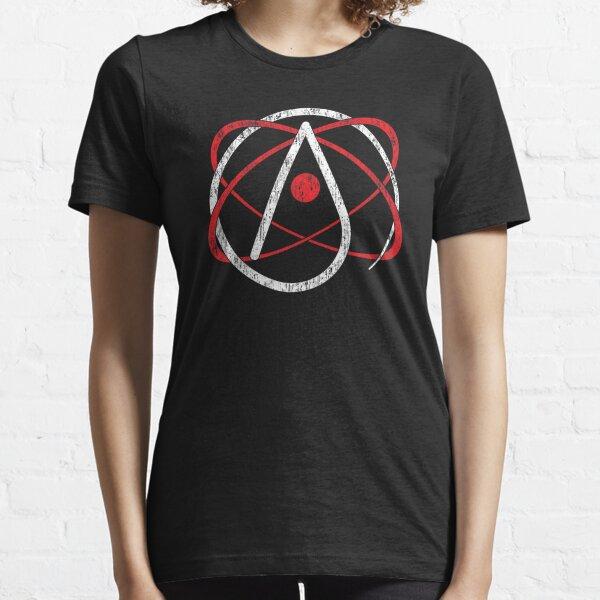 Distressed Atheist Atom, Atheism Design Essential T-Shirt