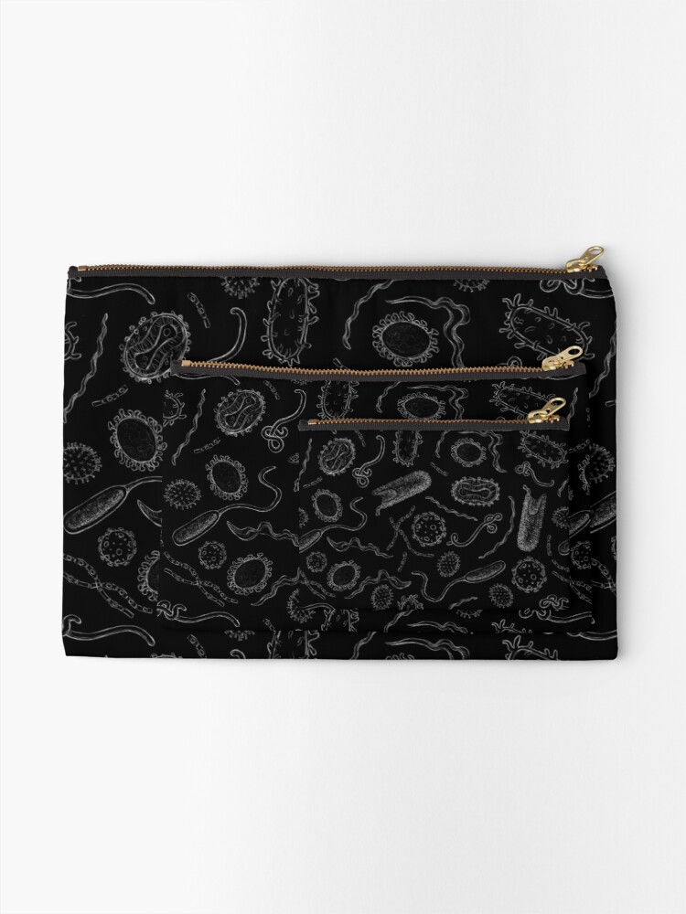 Alternate view of Deadly Diseases Zipper Pouch