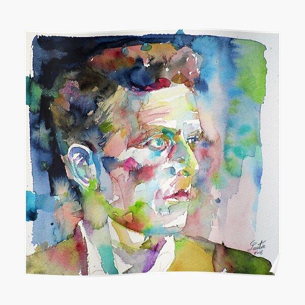 LUDWIG WITTGENSTEIN - watercolor portrait.6 Poster