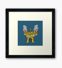 Mythical Tiger Pixelart Framed Print