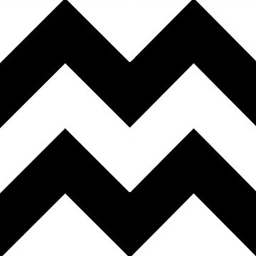 Black and White Chevron Pattern by RainBowEscence