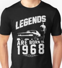 Legends Are Born In 1968 Unisex T-Shirt