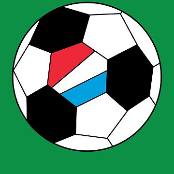 Luxembourg Soccer Ball - Luxembourg Football - Luxembourger Flag by Natalia-Art