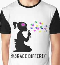 Embrace Different - Autism Awareness Graphic T-Shirt