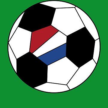 Dutch Soccer Ball - Dutch Football - Dutch Flag - Netherlands by Natalia-Art