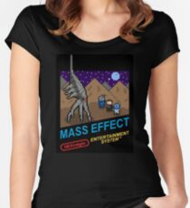 NEStalgia: Mass Effect Women's Fitted Scoop T-Shirt
