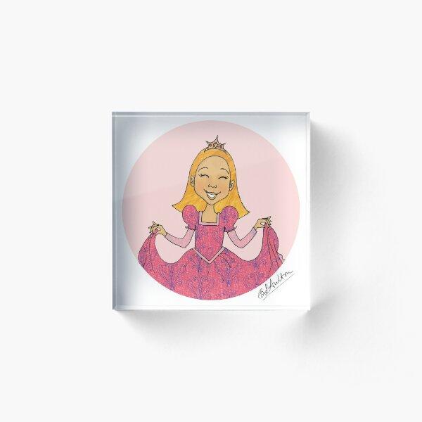 Just Like Me Happy Princess E Acrylic Block