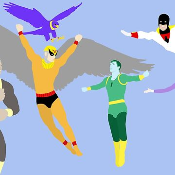 Birdman & The Galaxy Trio Meet Space Ghost by TheWrightMan