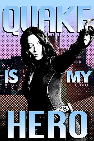 quake is my hero poster posters by angelafv redbubble