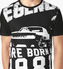 Legends Are Born In 1981 Graphic T-Shirt