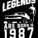 Legends Are Born In 1987 by wantneedlove