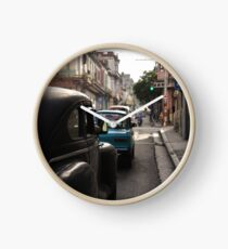 Old Cars Havana  Clock