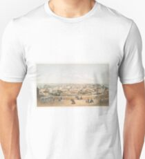Vintage Pictorial Map of San Juan PR (1860) Unisex T-Shirt