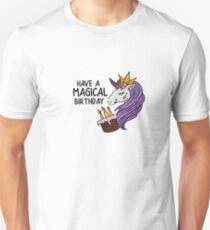 """Unicorn party T-shirt for girls """"Girl's birthday party""""  Unisex T-Shirt"""